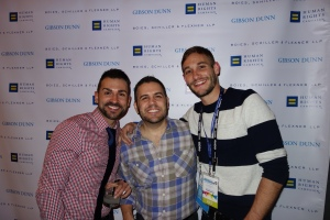 Paul Katami, Jeff Zarillo and Ryan White at Sundance after party.