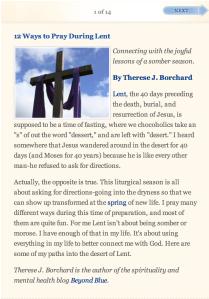 12 Ways to Pray During Lent from Beliefnet.com