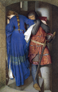 The Meeting on the Turret Stairs by Frederic William Burton