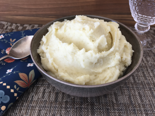 A large bowl of Irish mashed potatoes for Thanksgiving and Christmas