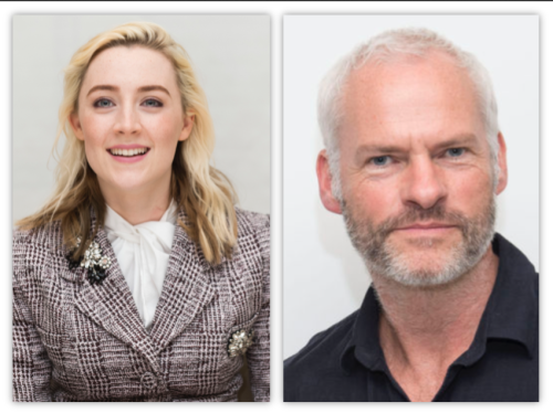 Saoirse Ronan and Martin McDonagh at 2018 Golden Globes