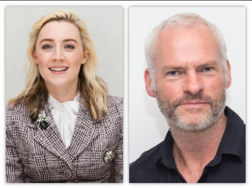 Saoirse Ronan and Martin McDonagh at 2018 Golden Globes