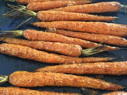 Tray of Roasted Carrots
