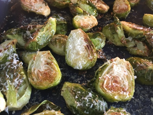 Oven Roasted Parmesan Brussels Sprouts