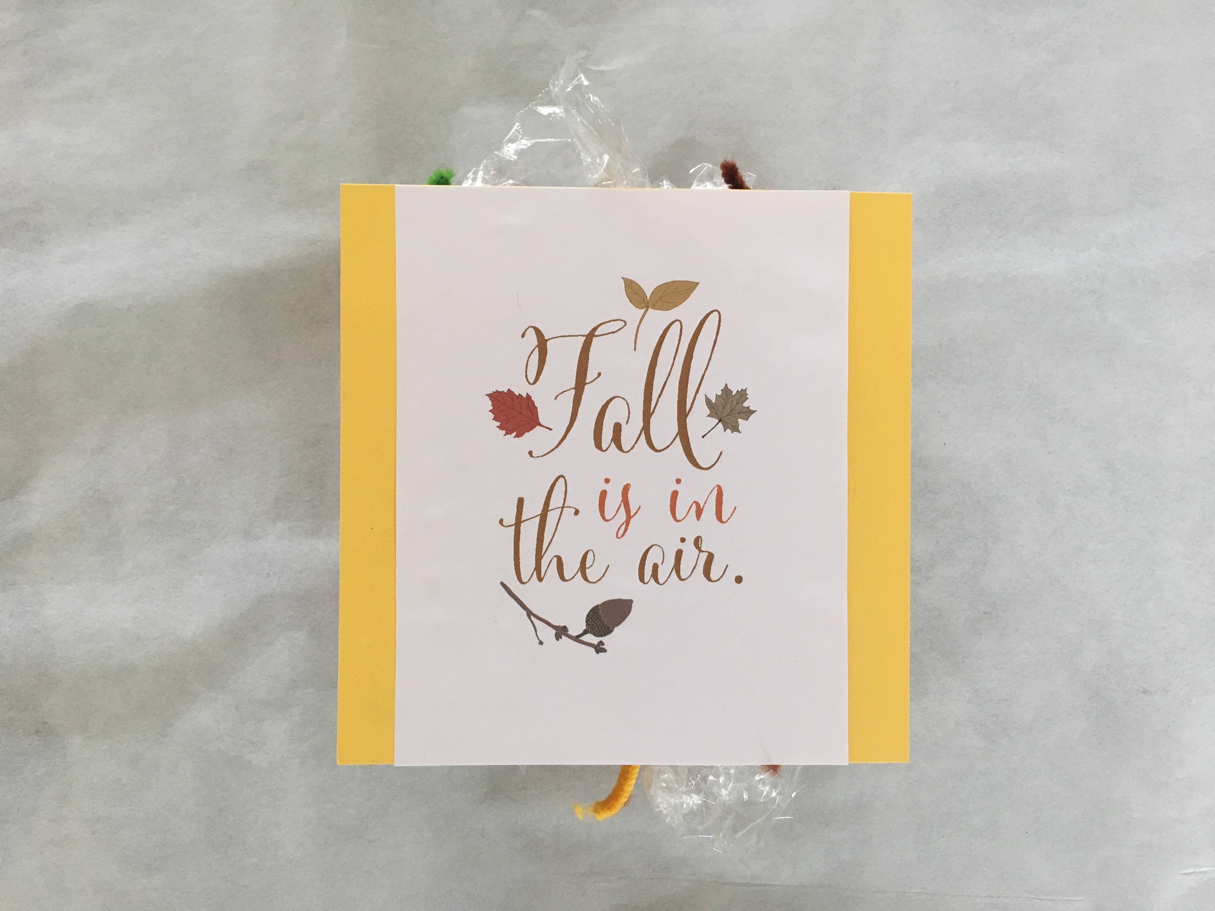 Homemade card from fall printable